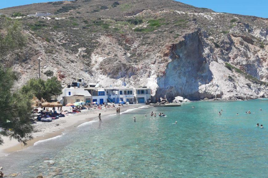 Milos spiagge firopotamos