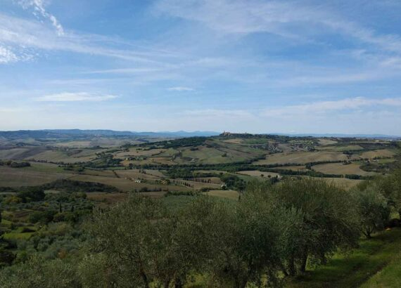 itinerario in val d'orcia